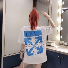 オフホワイト Off White メンズ/レディース 2色 クルーネック Tシャツ 綿 カップル 大き目 新品同様レプリカ販売