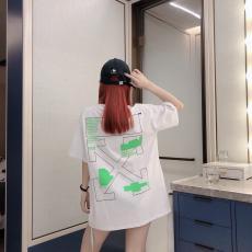 オフホワイト Off White メンズ/レディース カップル 2色 クルーネック Tシャツ 綿 大き目 新作スーパーコピー安全後払い