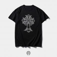 クロムハーツ Chrome Hearts メンズ/レディース クルーネック Tシャツ 綿 新品同様最高品質コピー代引き対応