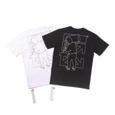 ブランド国内オフホワイト Off White メンズ/レディース 大き目 2色 クルーネック Tシャツ 綿 送料無料コピーブランド激安販売専門店