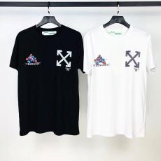 オフホワイト Off White メンズ/レディース 2色 クルーネック Tシャツ 綿 カップル 2020年新作偽物販売口コミ