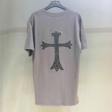 ブランド可能クロムハーツ Chrome Hearts メンズ/レディース カップル  3色 クルーネック 綿 Tシャツ 2020年春夏新作ブランドコピー専門店