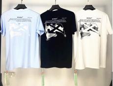 オフホワイト Off White メンズ/レディース カップル 3色 クルーネック Tシャツ 綿 2020年春夏新作スーパーコピー激安販売