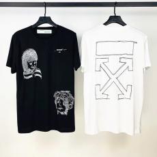 ブランド国内オフホワイト Off White メンズ/レディース 2色 クルーネック Tシャツ 綿 2020年春夏新作スーパーコピーブランド代引き