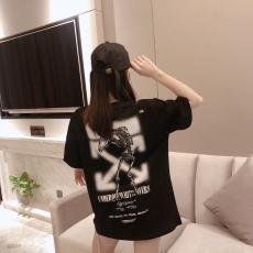 ブランド国内オフホワイト Off White メンズ/レディース 2色 クルーネック Tシャツ 綿 カップル 大き目 2020年春夏新作最高品質コピー
