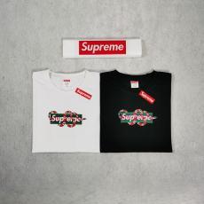 ブランド安全シュプリーム Supreme メンズ/レディース 2色 クルーネック Tシャツ 綿 カップル 高評価コピー 販売口コミ