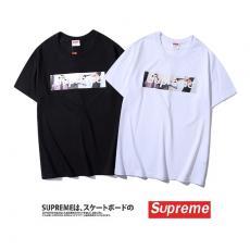 ブランド安全シュプリーム Supreme メンズ/レディース 2色 クルーネック Tシャツ 綿 送料無料スーパーコピー激安販売
