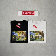 シュプリーム Supreme メンズ/レディース 2色 クルーネック Tシャツ 綿 カップル 人気レプリカ 代引き