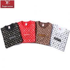 シュプリーム Supreme メンズ/レディース 4色 クルーネック Tシャツ 綿 カップル 人気スーパーコピー代引き可能