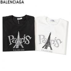 ブランド後払いバレンシアガ BALENCIAGA メンズ/レディース 2色 クルーネック Tシャツ 綿 2020年春夏新作スーパーコピー激安販売