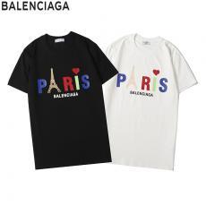 バレンシアガ BALENCIAGA メンズ/レディース 2色 クルーネック Tシャツ 綿 カップル 新作偽物販売口コミ