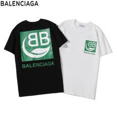 ブランド国内バレンシアガ BALENCIAGA メンズ/レディース 2色 綿 Tシャツ クルーネック カップル 新入荷スーパーコピーブランド激安販売専門店