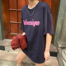 バレンシアガ BALENCIAGA メンズ/レディース クルーネック Tシャツ 綿 カップル 定番人気レプリカ口コミ販売