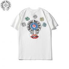 クロムハーツ Chrome Hearts 2色 クルーネック Tシャツ 綿 カップル 人気ブランドコピー専門店