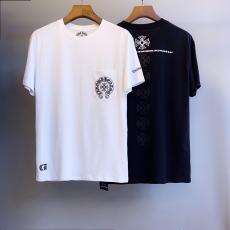 クロムハーツ Chrome Hearts メンズ/レディース 2色 クルーネック Tシャツ 綿 カップル 新入荷 大き目激安代引き口コミ