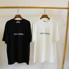 バレンシアガ BALENCIAGA メンズ/レディース カップル 2色 クルーネック Tシャツ 綿 新入荷コピー 販売