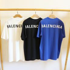 バレンシアガ BALENCIAGA メンズ/レディース カップル 3色 クルーネック Tシャツ 綿 新入荷偽物代引き対応