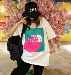ブランド安全ノースフェイス THE NORTH FACE メンズ/レディース 2色 クルーネック 綿 Tシャツ おすすめスーパーコピー国内発送専門店