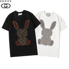 グッチ GUCCI メンズ/レディース 2色 クルーネック Tシャツ 綿 カップル  2020年新作コピーブランド激安販売専門店