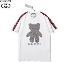 グッチ GUCCI メンズ/レディース 3色 クルーネック Tシャツ 綿 カップル おすすめレプリカ激安代引き対応