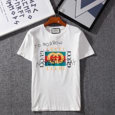 ブランド後払いグッチ GUCCI メンズ/レディース カップル 3色 クルーネック Tシャツ 綿 定番人気コピー 販売口コミ