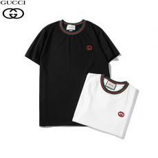 ブランド販売グッチ GUCCI カップル 2色 Tシャツ 綿 クルーネック 新入荷レプリカ販売