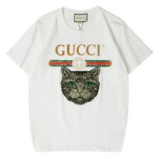 ブランド通販グッチ GUCCI メンズ/レディース カップル 2色 クルーネック Tシャツ 綿  定番人気口コミ激安代引き