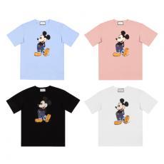 ブランド可能グッチ GUCCI メンズ/レディース  クルーネック Tシャツ 綿 4色 美品激安販売