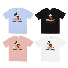 ブランド可能グッチ GUCCI メンズ/レディース カップル 4色 Tシャツ 綿 クルーネック おすすめレプリカ販売