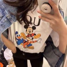 ブランド販売グッチ GUCCI メンズ/レディース カップル 2色 クルーネック Tシャツ 綿 2020年春夏新作スーパーコピーブランド