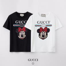 グッチ GUCCI メンズ/レディース カップル 2色 クルーネック 綿 Tシャツ 2020年新作コピー口コミ