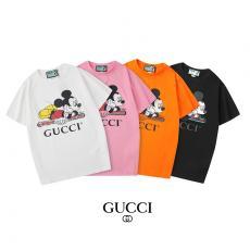 グッチ GUCCI メンズ/レディース カップル 4色 クルーネック Tシャツ 綿 新品同様最高品質コピー代引き対応