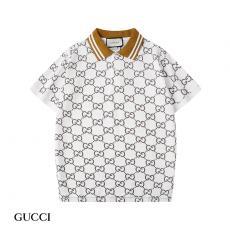 グッチ GUCCI メンズ/レディース 折り襟 ポロシャツ 2色  Tシャツ 綿 カップル 新品同様スーパーコピー通販