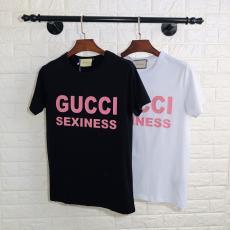 グッチ GUCCI メンズ/レディース 2色 クルーネック Tシャツ 綿 カップル 2020年春夏新作コピー 販売