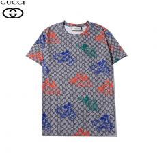 グッチ GUCCI メンズ/レディース クルーネック Tシャツ 綿 高評価コピーブランド代引き