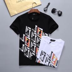 フェンディ FENDI メンズ/レディース 2色 クルーネック Tシャツ 綿 美品コピーブランド激安販売専門店