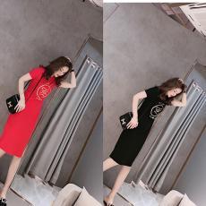 ブランド国内フェンディ FENDI レディース 2色 半袖 ドレス おすすめコピー 販売