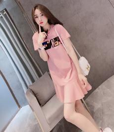 フェンディ FENDI レディース 半袖 ドレス 2色  新品同様  人気ブランドコピー激安国内発送販売専門店