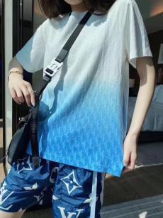 ディオール Dior メンズ/レディース カップル クルーネック Tシャツ 綿 2020年新作レプリカ販売