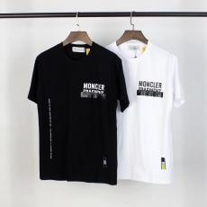 モンクレール MONCLER メンズ/レディース クルーネック Tシャツ 綿 2色 送料無料レプリカ 代引き