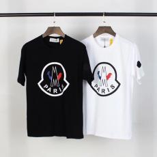 ブランド販売モンクレール MONCLER メンズ/レディース クルーネック 2色 カップル Tシャツ 綿 人気ブランドコピー代引き