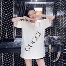 ブランド安全グッチ GUCCI メンズ/レディース カップル クルーネック Tシャツ 綿 新作コピー口コミ