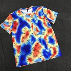 ルイヴィトン LOUIS VUITTON メンズ/レディース カップル クルーネック Tシャツ 綿 新品同様スーパーコピー代引き可能
