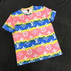 ルイヴィトン LOUIS VUITTON 2色 クルーネック Tシャツ 綿 カップル 2020年新作コピー最高品質激安販売