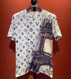 ルイヴィトン LOUIS VUITTON メンズ/レディース 2色 クルーネック Tシャツ 綿 人気コピー 販売
