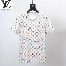 ルイヴィトン LOUIS VUITTON メンズ/レディース カップル 2色 クルーネック Tシャツ 綿 人気偽物代引き対応