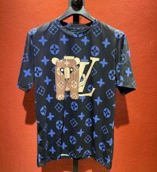 ルイヴィトン LOUIS VUITTON メンズ/レディース クルーネック Tシャツ 綿 高評価レプリカ激安代引き対応