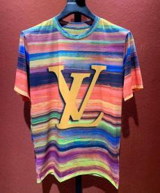 ブランド販売ルイヴィトン LOUIS VUITTON メンズ/レディース クルーネック Tシャツ 綿 人気スーパーコピー激安販売
