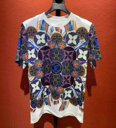 ルイヴィトン LOUIS VUITTON 2色 クルーネック Tシャツ 綿 良品激安代引き