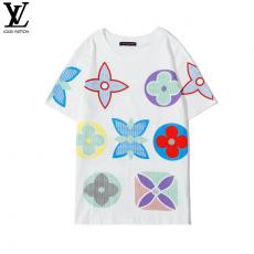 ブランド後払いルイヴィトン LOUIS VUITTON メンズ/レディース カップル 2色 クルーネック Tシャツ 綿 新入荷スーパーコピー代引き